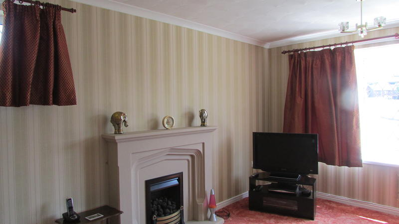 front room wallpapering