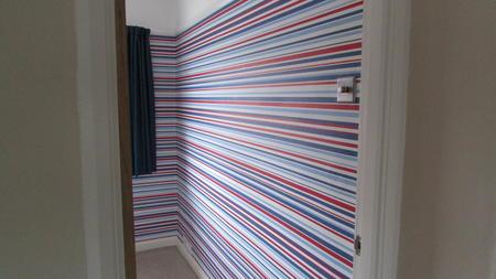 wallpapering kids bedroom
