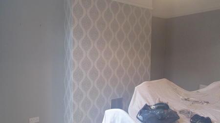 wallpapering dining room